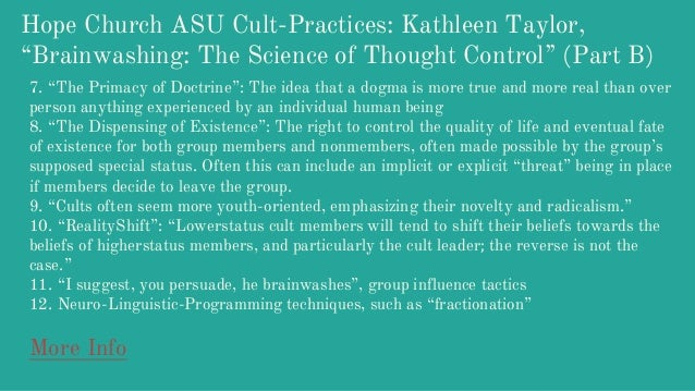 brainwashing the science of thought control kathleen taylor pdf