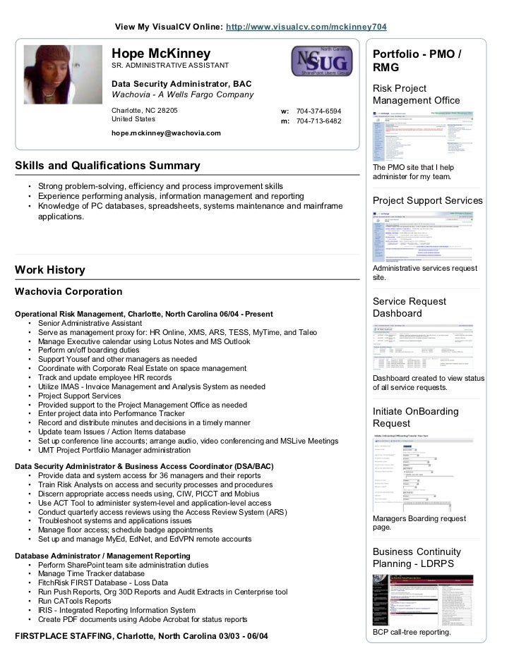 visualcv resume
