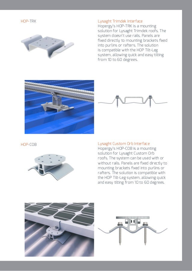Hopergy Solar Mounting Structure Catalogue