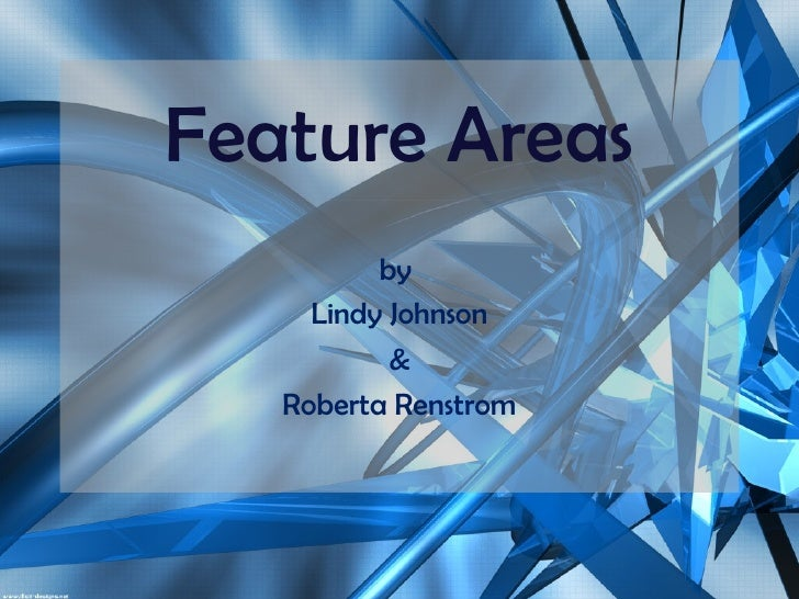 Feature Areas by  Lindy Johnson & Roberta Renstrom