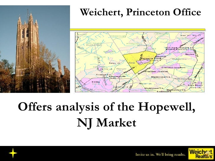 Weichert, Princeton Office Offers analysis of the Hopewell, NJ Market