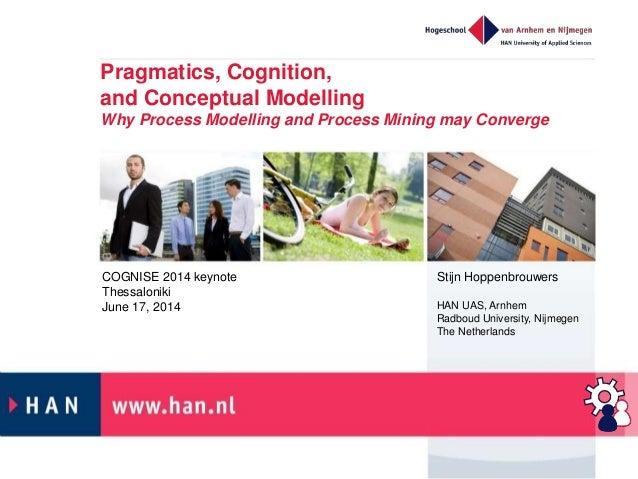 Pragmatics, Cognition, and Conceptual Modelling Why Process Modelling and Process Mining may Converge Stijn Hoppenbrouwers...