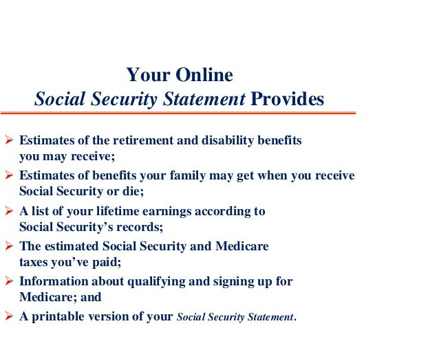 security services 17 your online social security