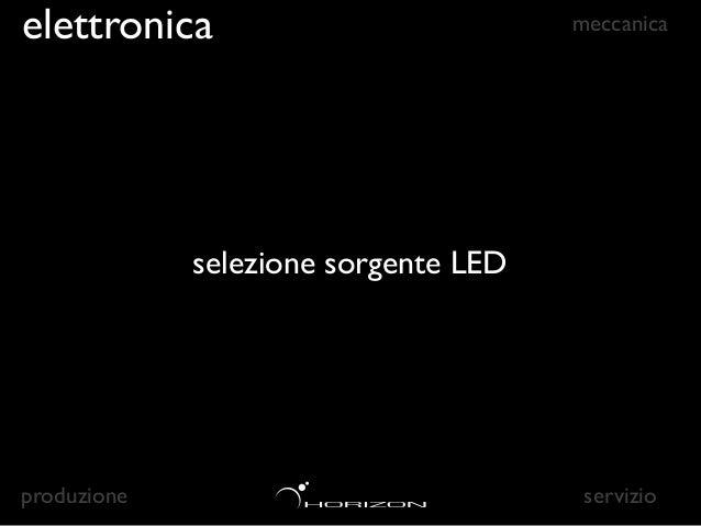 elettronica                            meccanica              selezione sorgente LED       alta efficienzaproduzione       ...