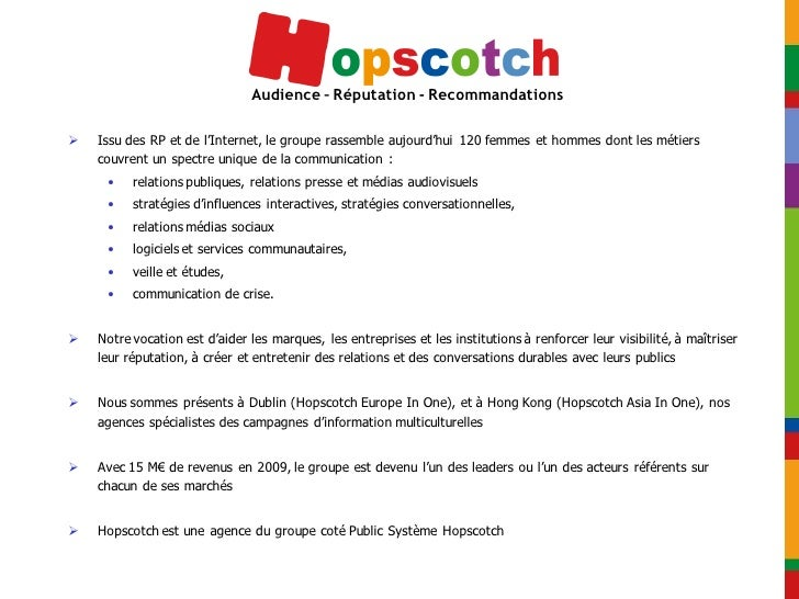 Deuxième baromètre Hopscotch de l'e-réputation Slide 2