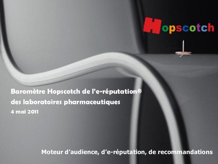 Baromètre Hopscotch de l'e-réputation®des laboratoires pharmaceutiques4 mai 2011             Moteur d'audience, d'e-réputa...