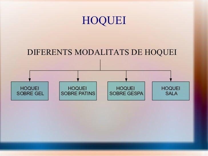HOQUEI DIFERENTS MODALITATS DE HOQUEI
