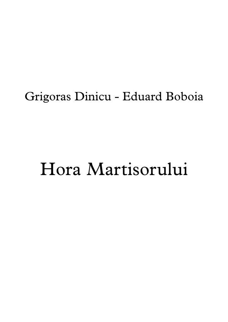 Grigoras Dinicu - Eduard Boboia  Hora Martisorului