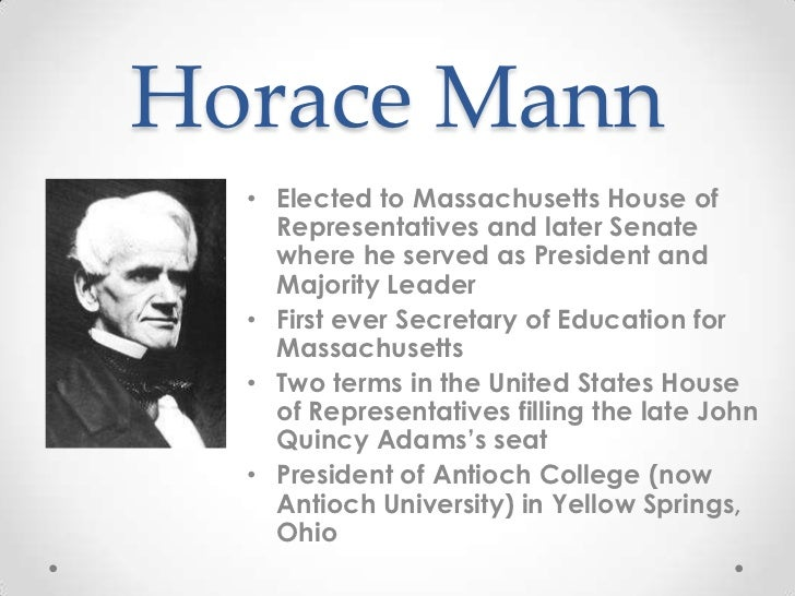 horace mann education reform Horace mann and education research papers discuss the champion of  educational reform.