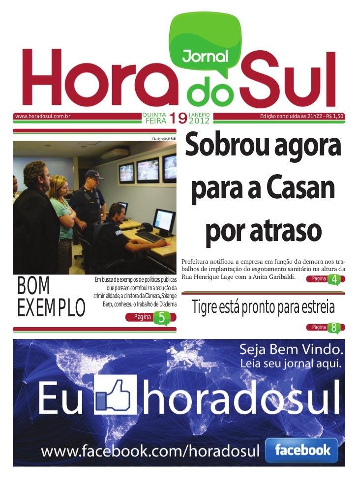 www.horadosul.com.br                            QUINTA                                                  FEIRA        19 20...