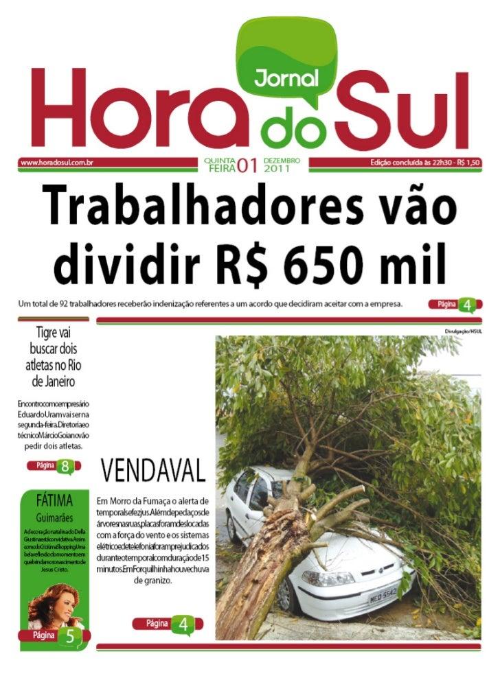 Hora do Sul 01/12/2011