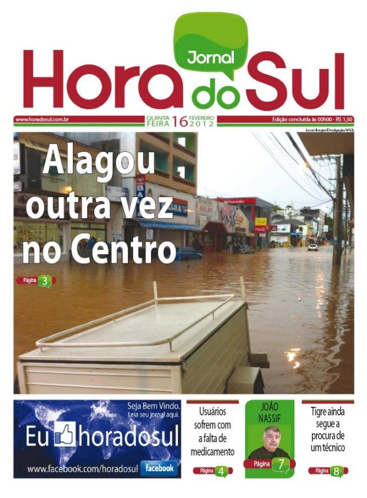 Hora do Sul 16/02/2012