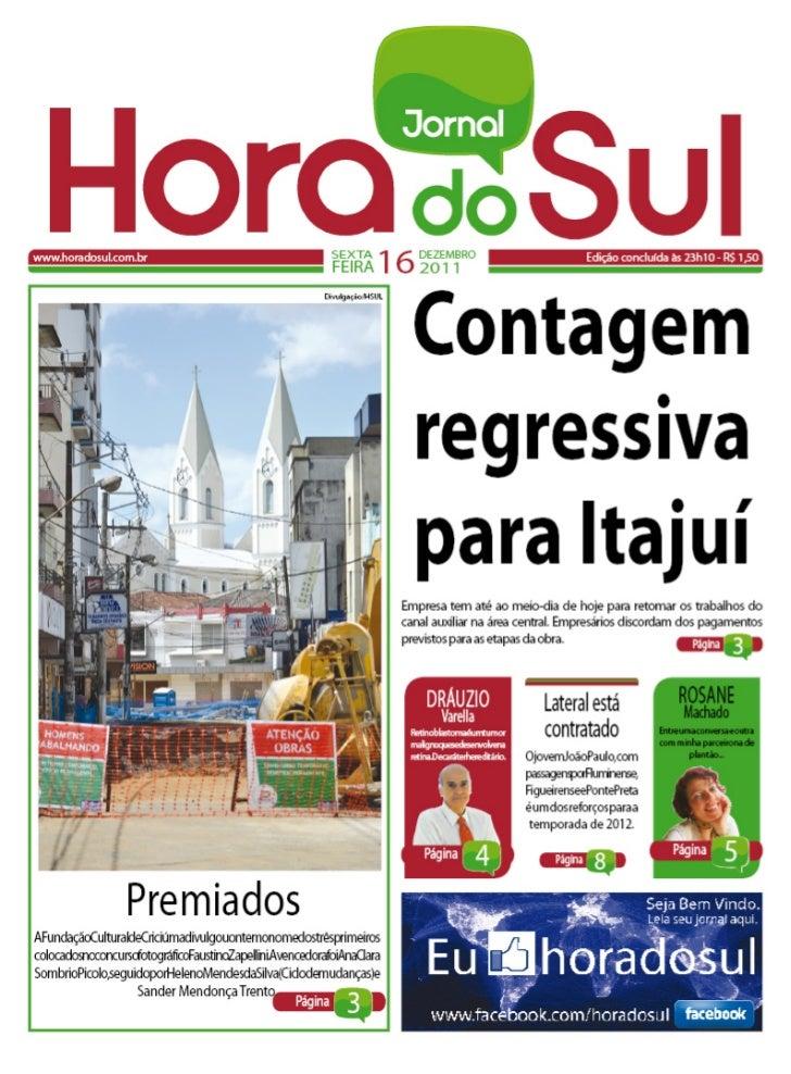 Hora do Sul 16/12/2011