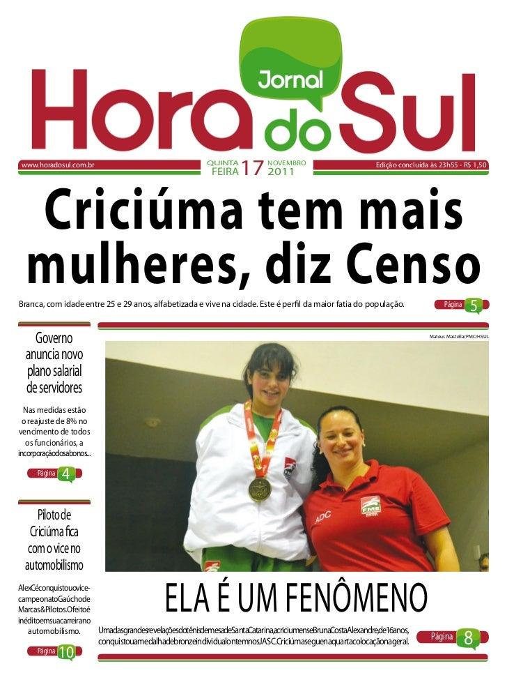 www.horadosul.com.br                                    QUINTA                                                          FE...