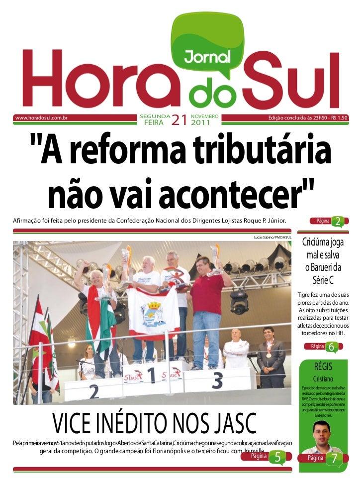 www.horadosul.com.br                              SEGUNDA                                                    FEIRA     21 ...