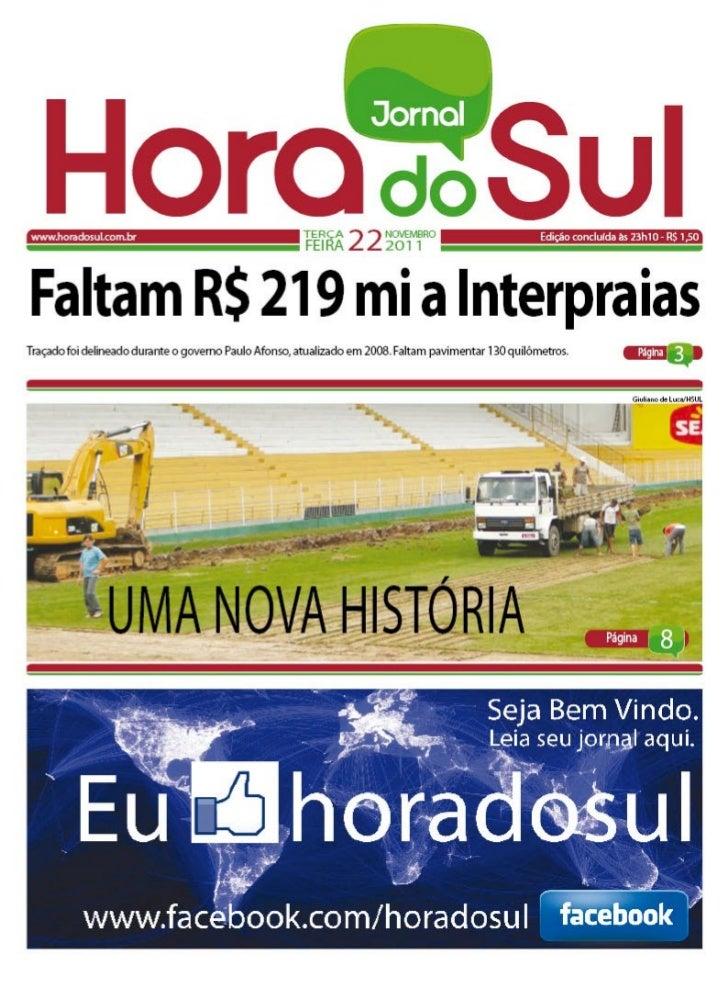Hora do Sul 22/11/2011