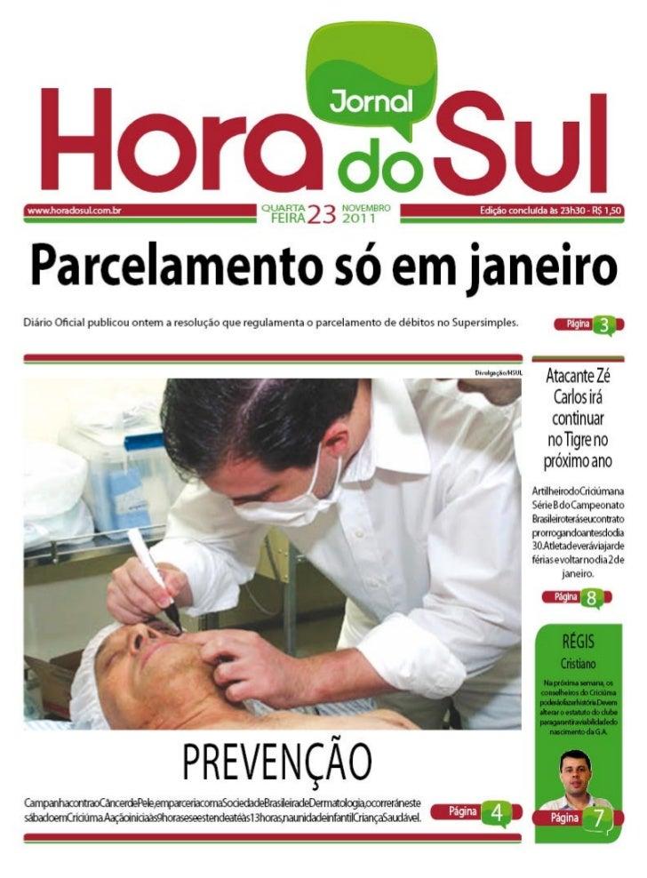Hora do Sul 23/11/2011