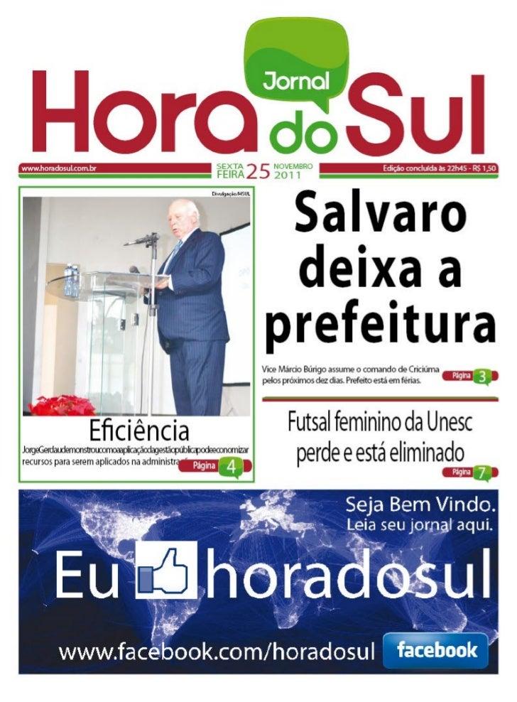 Hora do Sul 25-11-2011