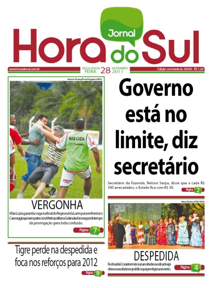 Hora do Sul 28/11/2011
