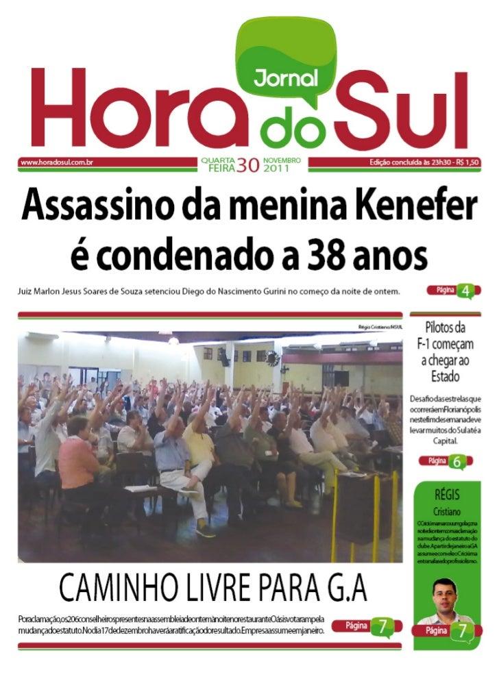 Hora do Sul 30/11/2011