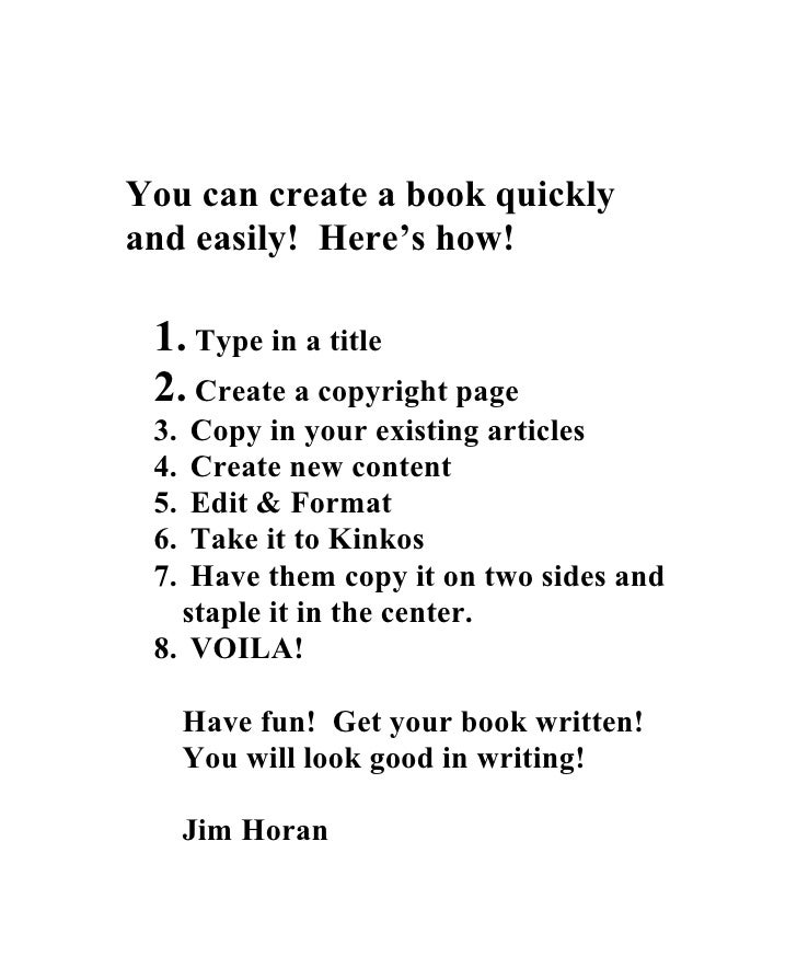 Jim Horan\'s 7x10 Book Template