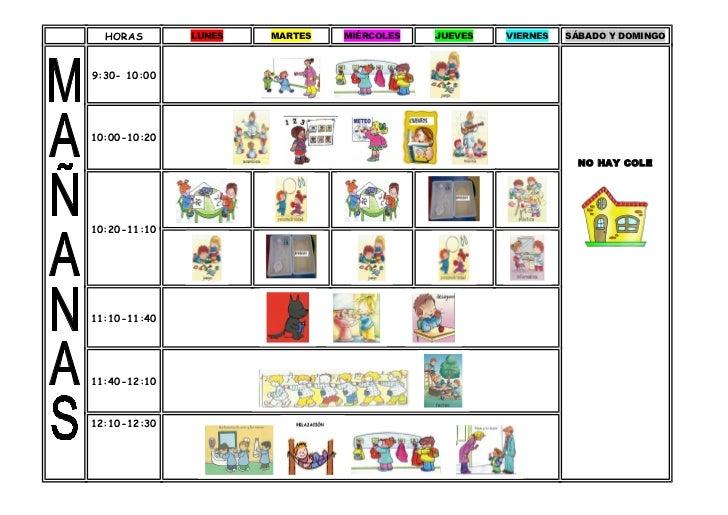 Horario aula 2 a os for Cronograma jardin infantil 2015