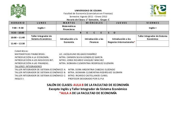 HORARIOS DE CLASES: 1ROS, 3EROS, Y 5TOS 2011 Slide 3