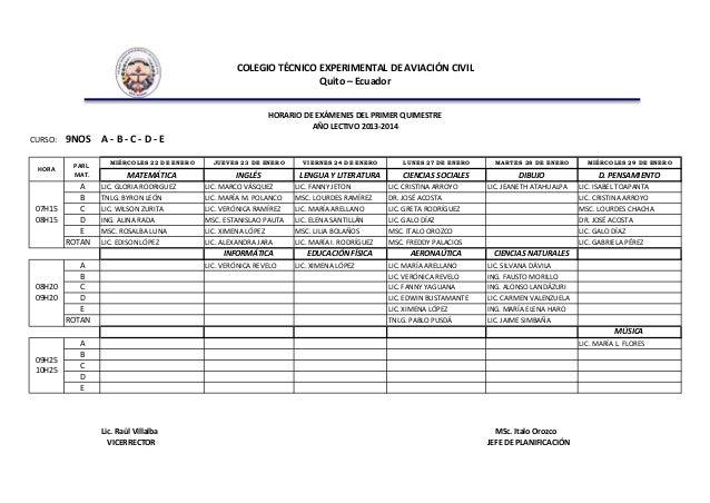 Horarios de exámenes 2013 2014 Slide 2