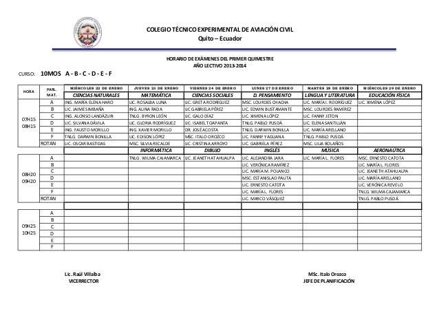 Horarios de exámenes 2013 2014 Slide 3