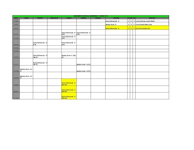 Horarios Semestre Febrero-Julio 2013 TEC Vallarta
