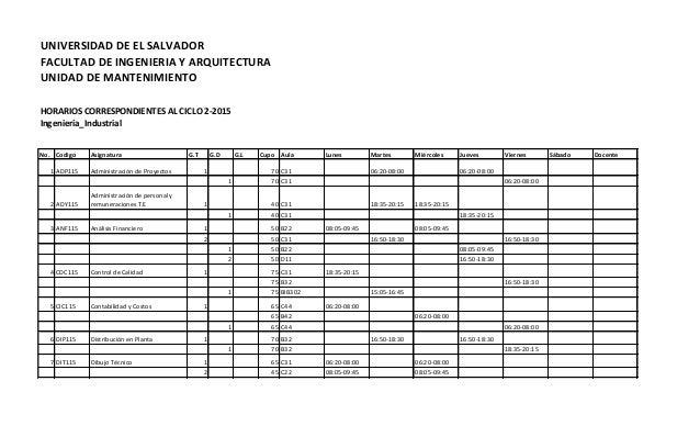 horarios inscripcion escuela de ingenieria industrial
