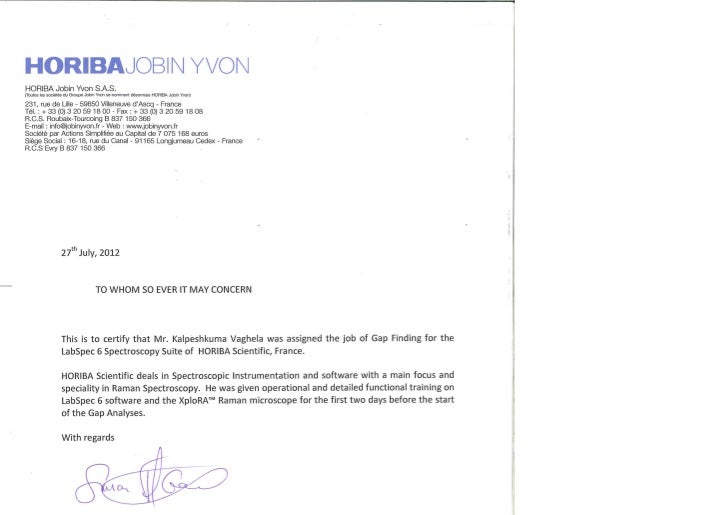 Horiba Certificate For Krv