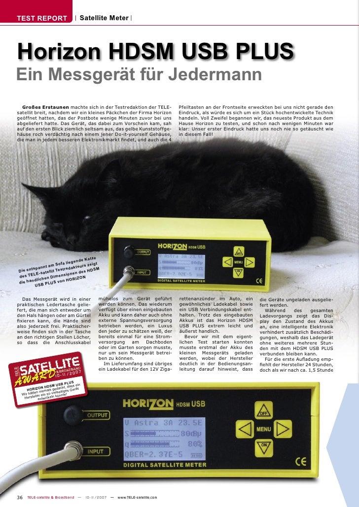 TEST REPORT                          Satellite Meter     Horizon HDSM USB PLUS Ein Messgerät für Jedermann   Großes Erstau...