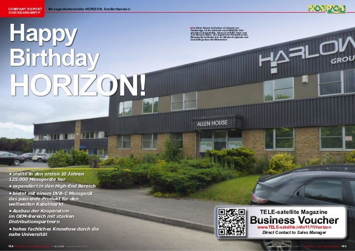 COMPANY REPORT                            Messgerätehersteller HORIZON, Großbritannien该独家报道由高级编辑所作Happy                   ...
