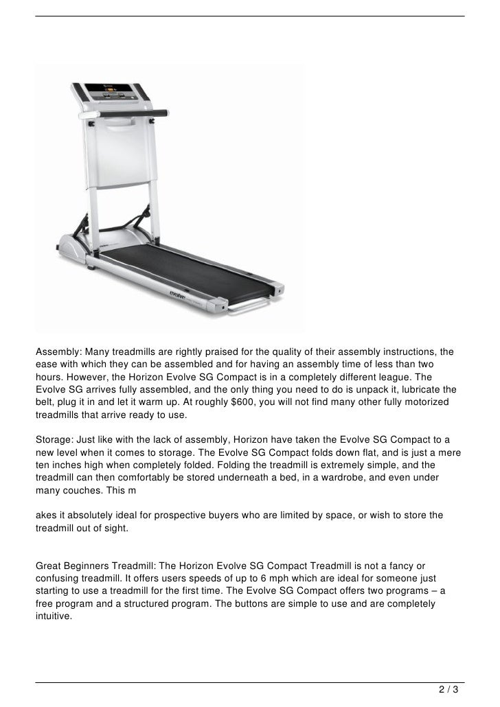 Horizon Evolve SG Treadmill Review - fitrated.com