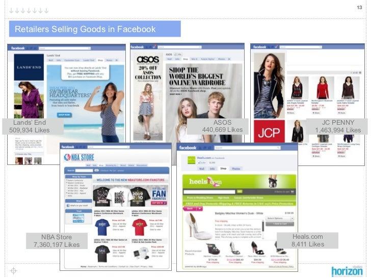 13 Retailers Selling Goods in Facebook                                                       J Lands' End                 ...
