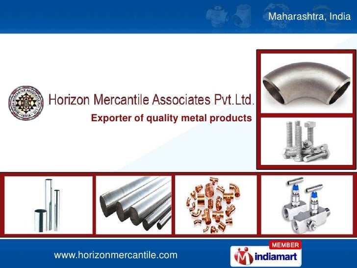 Maharashtra, India <br />Exporter of quality metal products<br />