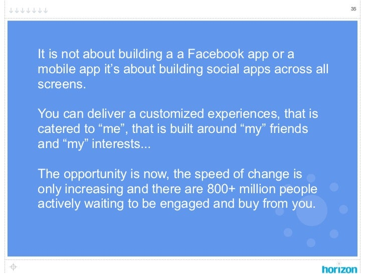 35It is not about building a a Facebook app or amobile app it's about building social apps across allscreens.You can deliv...