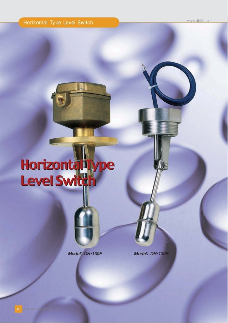 Horizontal Type         Level Switch8    40