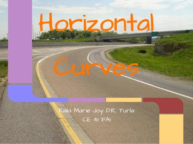 Horizontal Curves Kaila Marie Joy D.R. Turla         CE 41 FA1