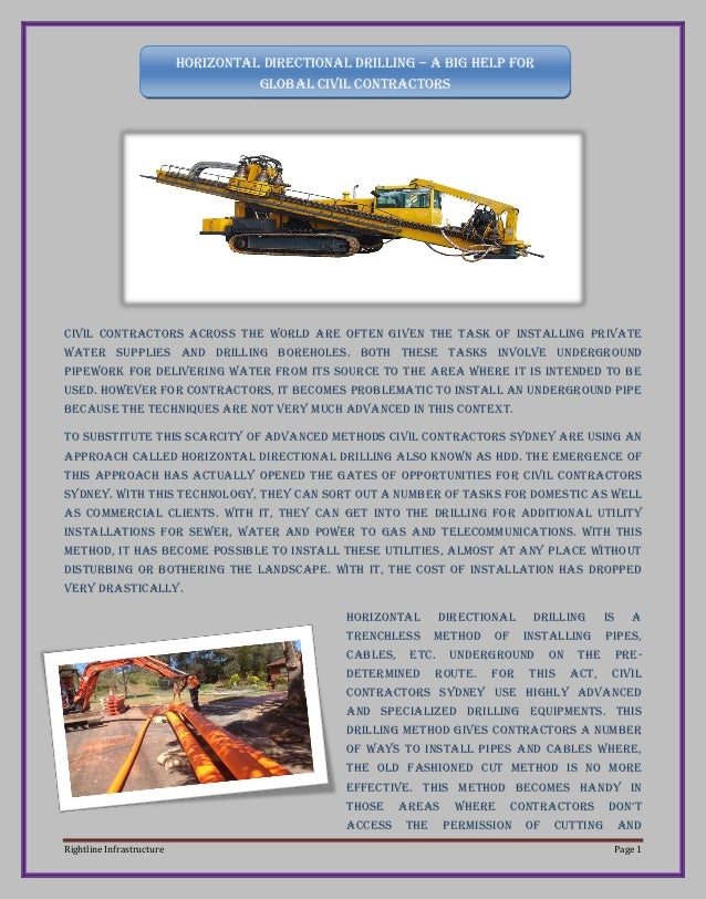 Rightline Infrastructure Page 1  Civil contractors across the world are often given the task of installing private water s...