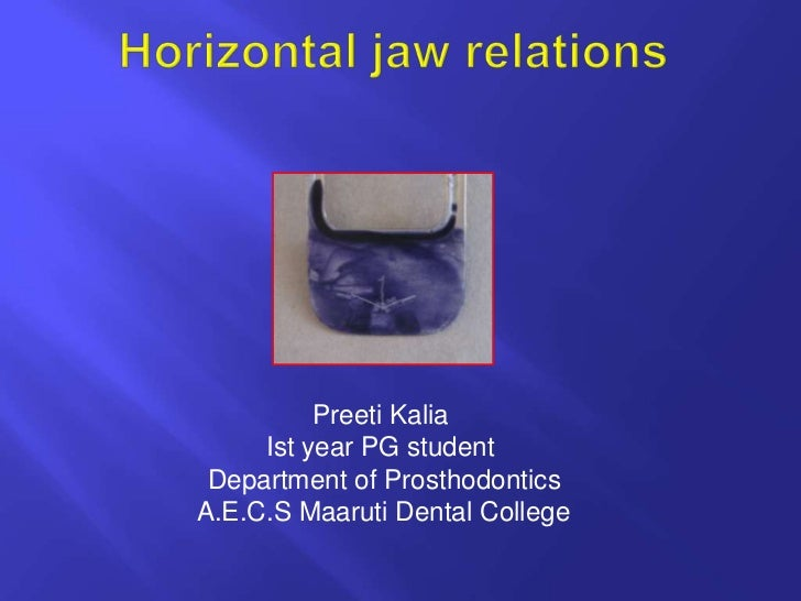 horizontal jaw relations ppt