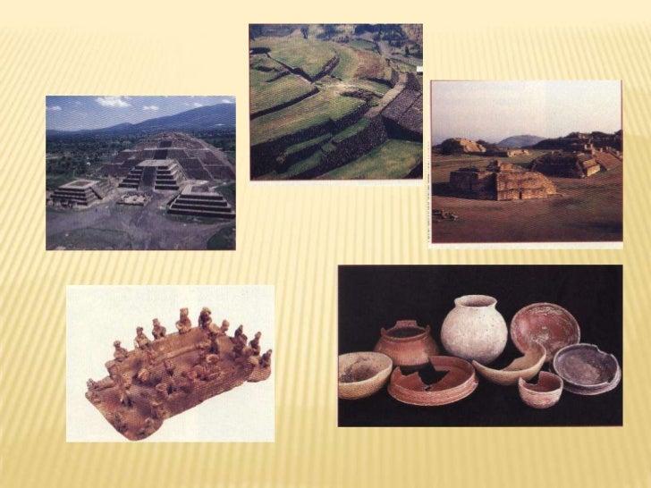 Ciudades con templos en bases piramidales, juegos de pelota y, a veces , palacios</li></li></ul><li>Técnicas de agricultur...