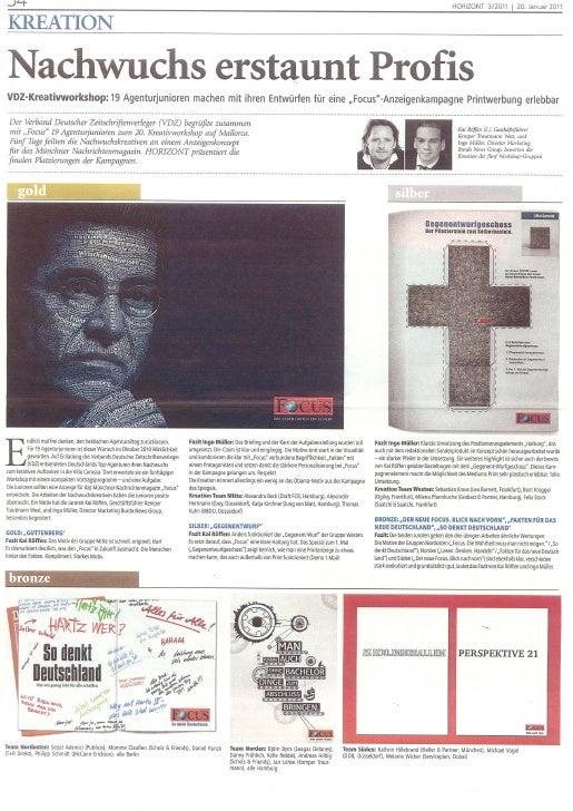 Horizont: Nachwuchs erstaunt Profis 20.01.2011
