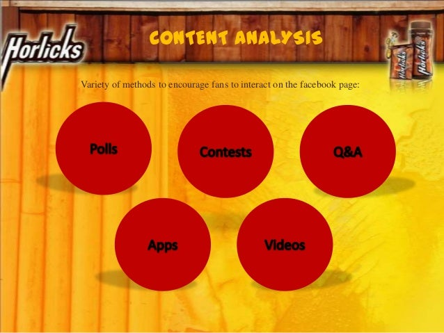 Variety of methods to encourage fans to interact on the facebook page: CONTENT ANALYSIS