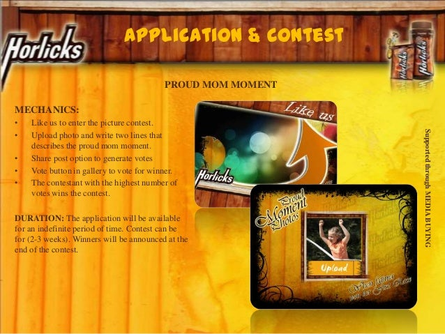Application & contest PROUD MOM MOMENT MECHANICS: • Like us to enter the picture contest. • Upload photo and write two lin...