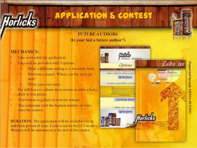 FUTURE AUTHORS (Is your kid a future author?) MECHANICS: • Like us to enter the application. • Fans will be provided with ...
