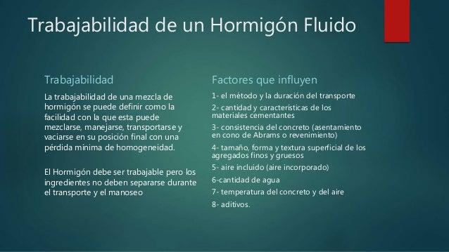 Hormig n fluido for Mezcla de hormigon