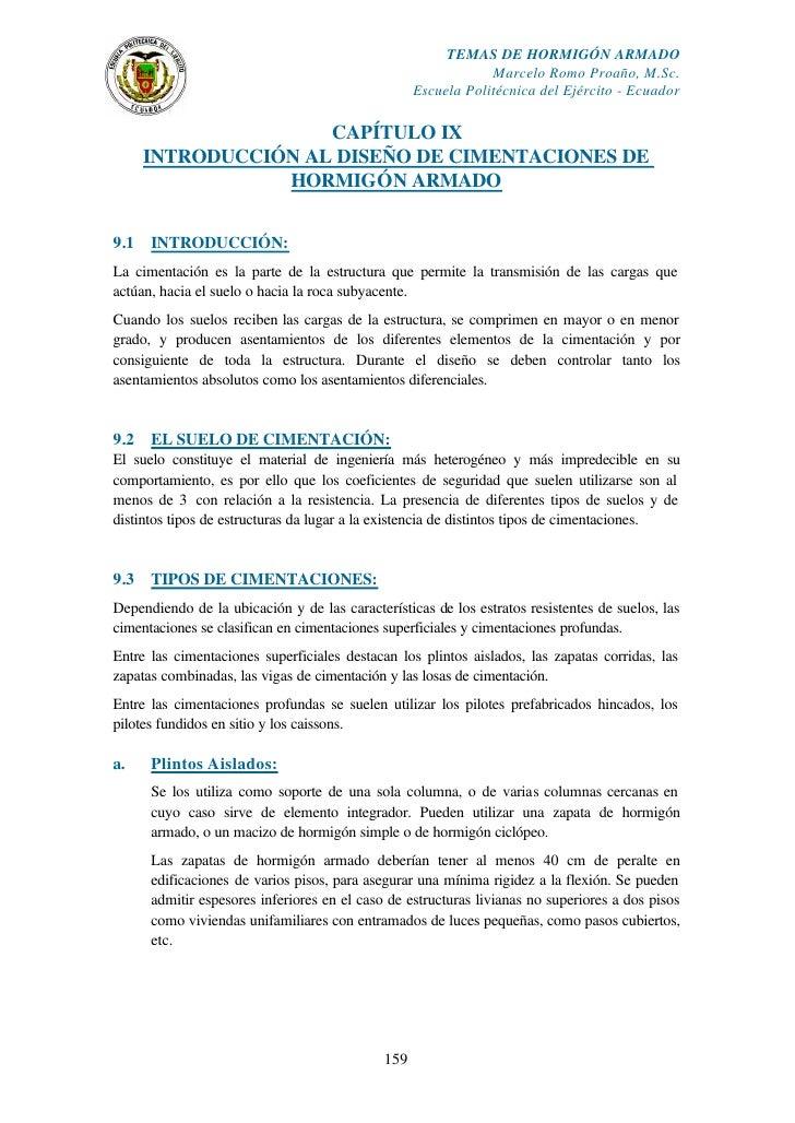 TEMAS DE HORMIGÓN ARMADO                                                                Marcelo Romo Proaño, M.Sc.        ...