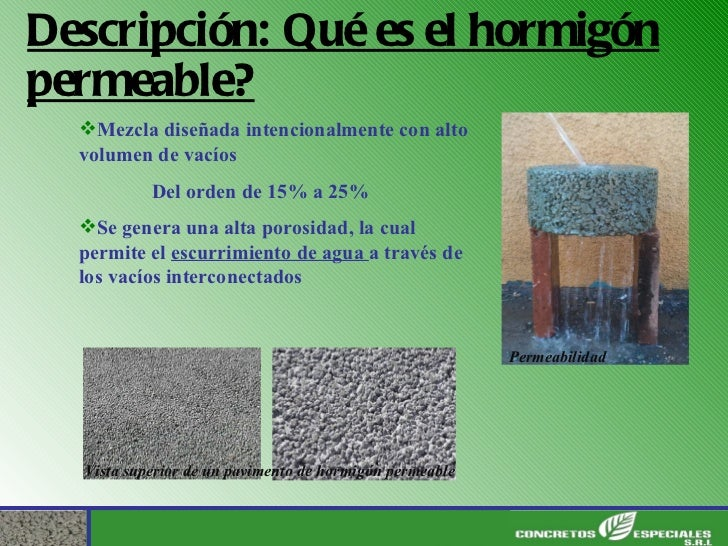 Hormigon ecologico permeable smart crete for El hormigon encerado es impermeable